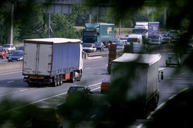 voitures, circulation, poids lourd